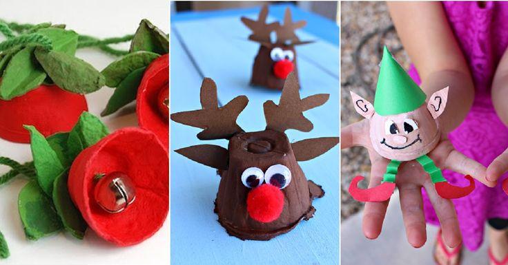 Des idées de bricolages de Noël pour enfants à réaliser avec des boites à oeufs
