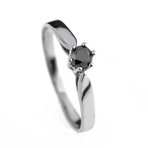 Inel cu diamant negru DR1319