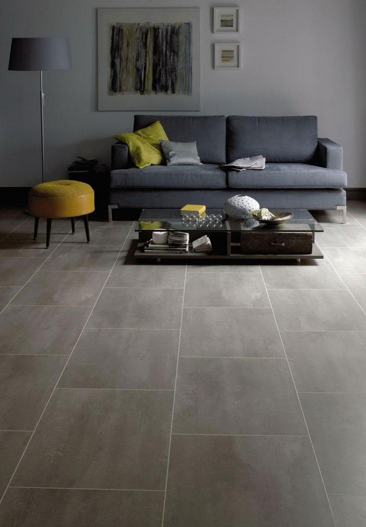 Love this large porcelain tile flooring look using vinyl flooring instead of real tile || Express Flooring | Phoenix, Arizona