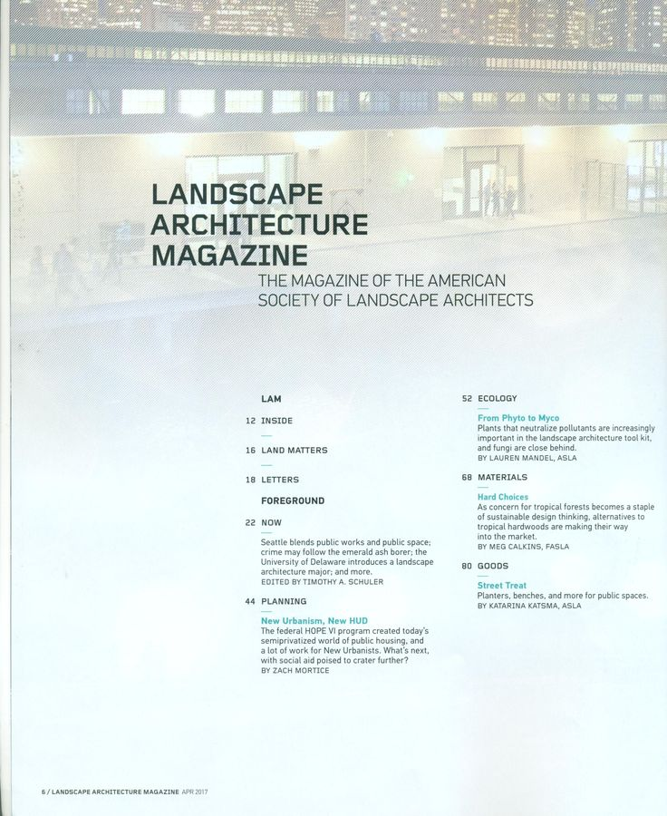 Landscape architectureV.107 NO.4 APR 2017 001