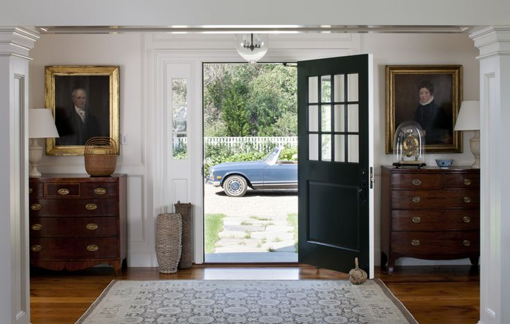 via seersucker & magnoliasThe Doors, Dreams House, Front Doors, Entrance Halls, Dream Houses, Homes, Entryway, Chest Of Drawers, Patricks Ahearn