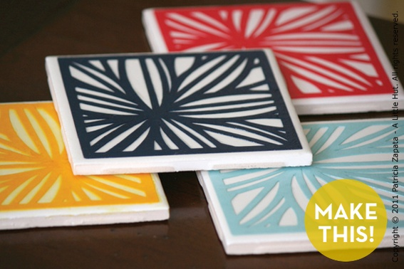 DIY Paper Cut CoastersPaper Cut Out, Projects, Diy Coasters, Crafts Ideas, Gift Ideas, Coasters Sets, Cut Paper, Tile Coasters, Cut Outs