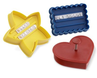 para fiestas: Williams Sonoma, Heart Cookies, Message In A Cookies Cutters, Cookies Press, Messageinacooki Cutters, Cookie Cutters, Random Stuff, Cookies Messages, Messages In A Cookies Cutters