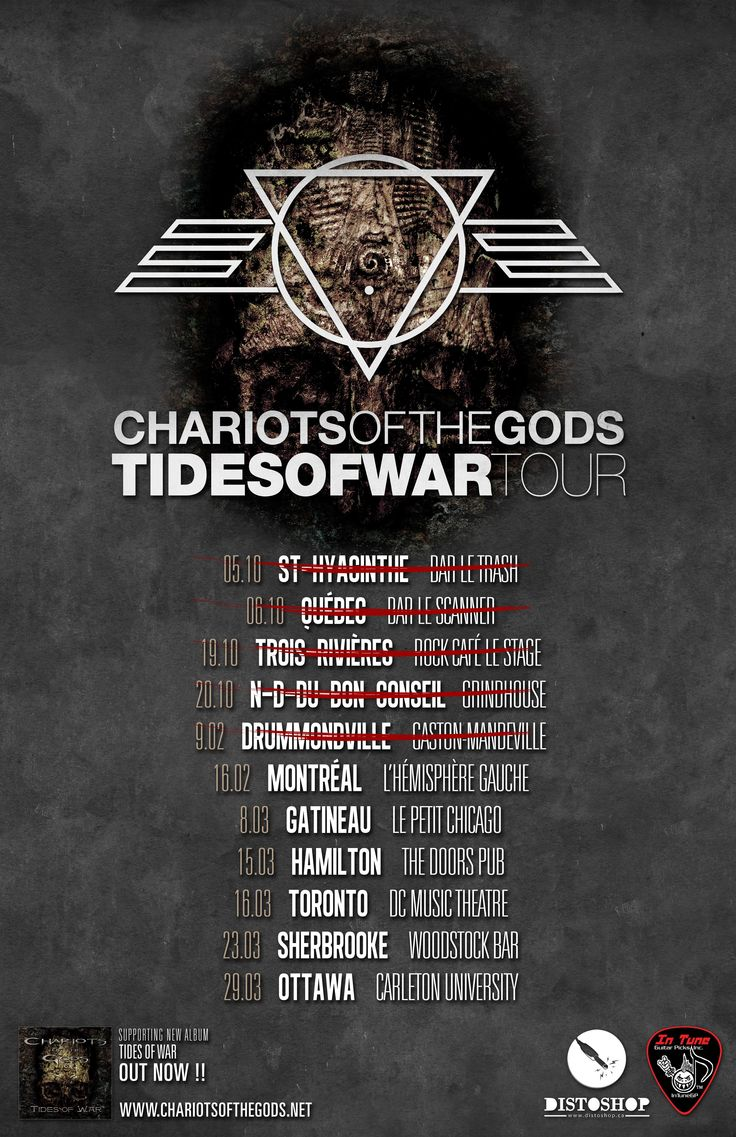 Melodic Death Thrashers CHARIOTS OF THE GODS Announce Tour Dates + New Video 'Tides of War' « Asher|Music Publicist's Weblog