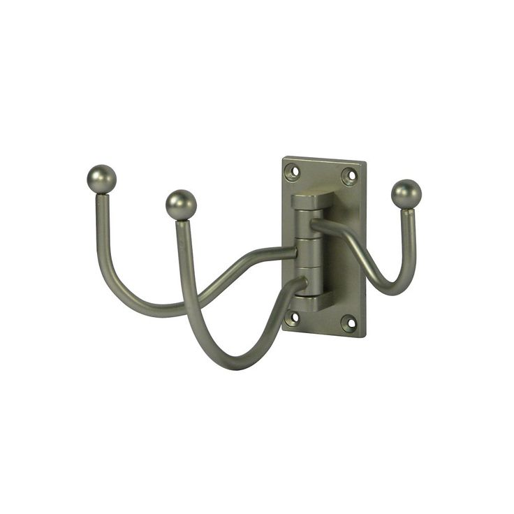 richelieu hardware nystrom pewter cresent triple swivel hook at the home depot mobile