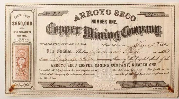 Arroyo Seco Copper Mining Company
