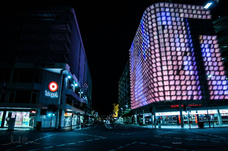 Adelaide city clear in the night
