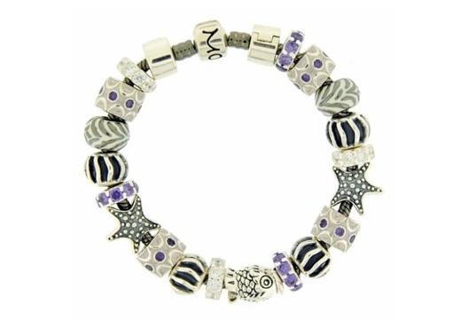 Moress Stackable Purple Stone & Starfish Bracelet
