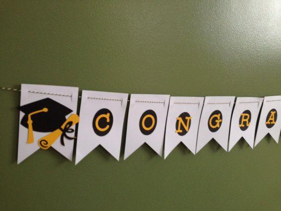 Graduation Banner  Congratulations Banner  by KincadesCrafts