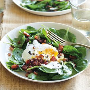 Spinach Salad with Poached Eggs and Pancetta | Williams-Sonoma