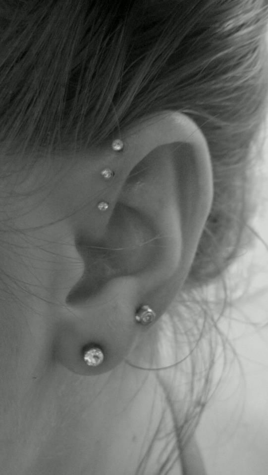 triple piercing and double piercing