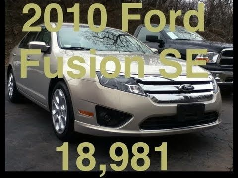 http://www.the-exclusivechrysler-center.com    Hello and welcome,         My name is Craig Dennis.  I have been assembling a collection of my best fuel economy cars and I just took in this 2010 Ford Fusion SE unit and I would like to present this car to you.  Many people are looking for a great car like this because this 2010 Ford Fusion SE unit has...