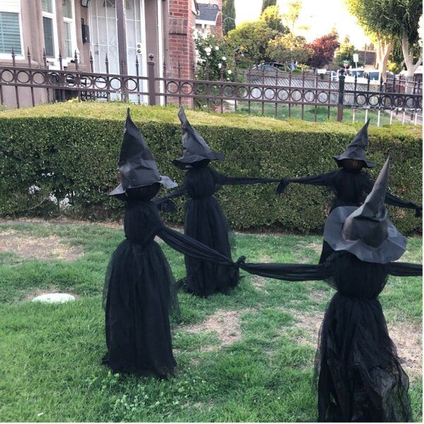 Lighted Halloween Witch Garden Stake Scary Halloween Wreath Witch Garden Halloween Witch