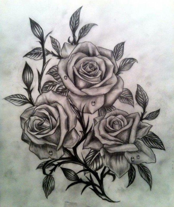 dessin tatouage rose                                                                                                                                                                                 Plus
