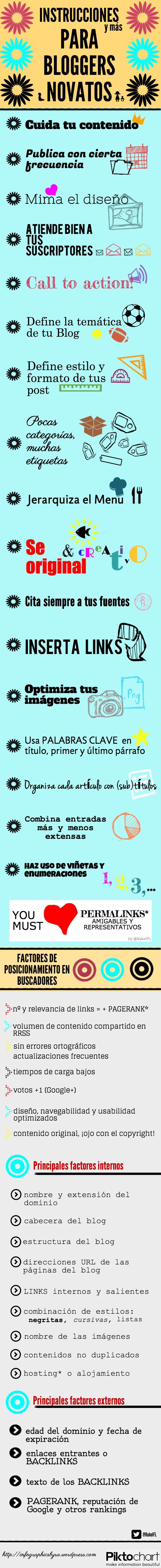 Infografía Instrucciones y más para bloggers novatos , by @RakelFL