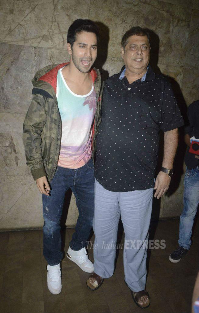 Varun Dhawan with father David Dhawan at 'Dil Dhadakne Do' screening. #Bollywood #Fashion #Style #DilDhadakneDo #Handsome