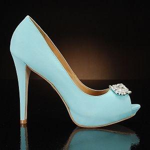 badgley mischka goodie-sky-blue wedding shoes $245