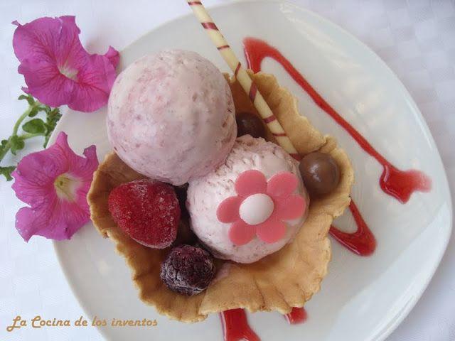 La Cocina de los inventos: Helado de Queso crema y Mermelada de Fresa
