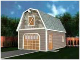 Gambrel gambrel barn and barn style homes on pinterest for Gambrel shed plans with loft