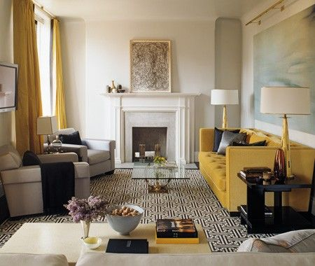 stylish and simple incorporation of mustard accentsDecor, Living Rooms, Living Spaces, Interiors, Livingroom, Colors Palettes, Steven Gambrel, Design, Mustard Yellow