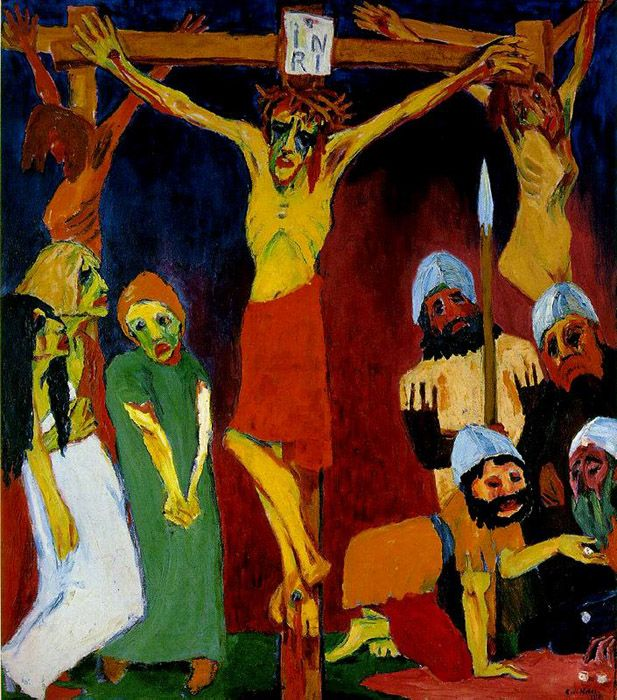 """Crucifixion"" by Emil Nolde 1912"