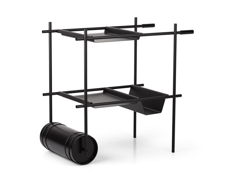 avant-garde bar cart by Gio Tirotto for the Italian brand Mingardo