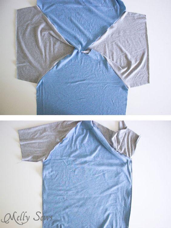 Step 2 - Mens Raglan T-shirt Pattern and Tutorial - Make a raglan tshirt with this free pattern - Melly Sews: