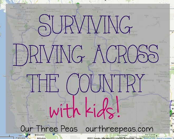 Tips and tricks on how to survive driving across the country with kids! | Our Three Peas