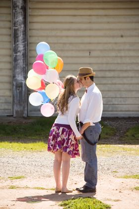 Alex and Amy's Engagement Shoot « Kelly Marie Photography... balloons or one giant balloon?