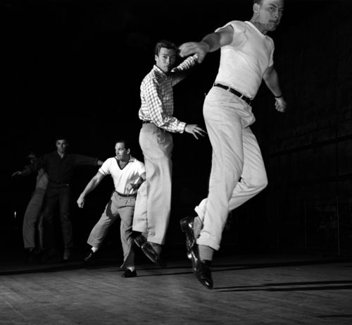 """Clint Eastwood (center) steps up with """"Enter the Dragon"""" star John Saxon (right) at a Universal-International dance class"""