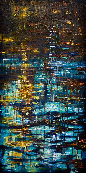 Reflections IV abstract painting by Linda Olsen