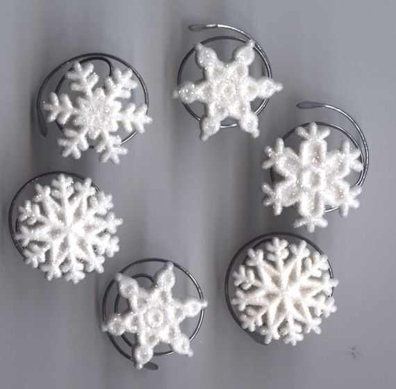 Perfect for a winter or Christrmas wedding! Snowflake Hair Swirls in White Glitter by hairswirls1 on Etsy, $8.99