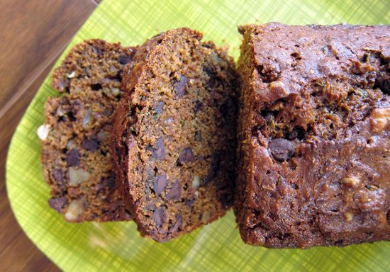 Spiced Zucchini Bread with Chocolate by everybody likes sandwiches at poppytalk: Zucchini Options, Zucchini Breads, Chocolates, Sweet Eating, Xo Heather, Spices Zucchini, Meat Loaf,  Meatloaf, Breads Pastries