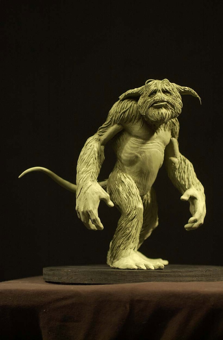 Monster maquete by unknown artist.   #monster #creature #fantasy