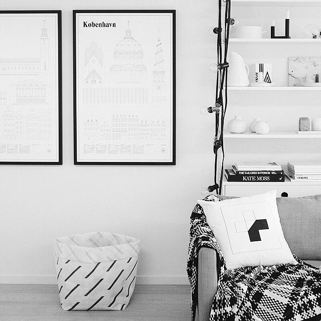 Shot by The Design Chaser featuring our half cross cushion #designministrynz