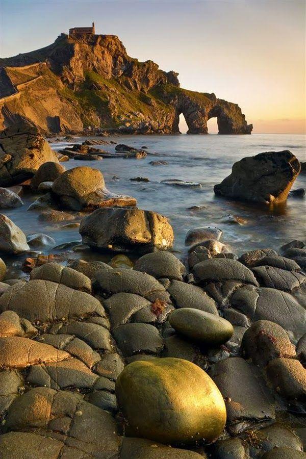 Coast of San Juan De Gaztelugatxe Islet, Basque Country Spain