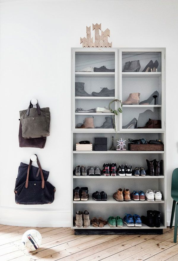 Entryway shoe storage. | apartment34.com: Cabinets, Home, Elle Decor, Shoes Display, Apartment34, Apartment 34, Shoes Storage, Storage Ideas, Decor Blog