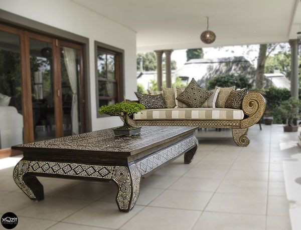 Indonesian Opium Coffee Table - Brown