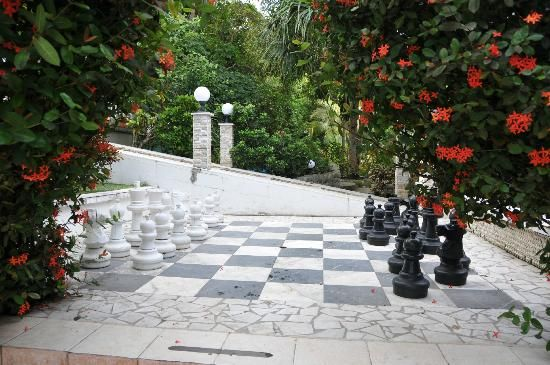 big chess at villa romantica
