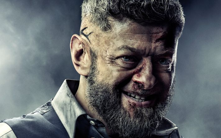 Download wallpapers Ulysses Klaue, 4k, 2018 movie, Black Panther, Andy Serkis
