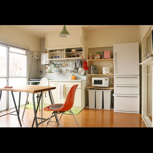 ミニマリスト/団地部/シェルチェア/見せる収納/無印良品/IKEA…などのインテリア実例 - 2015-07-29 14:16:35 | RoomClip(ルームクリップ)