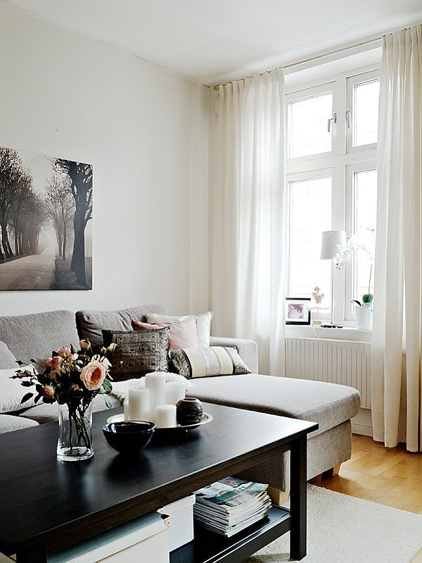 Beautiful neutrals - love the coffee table styling