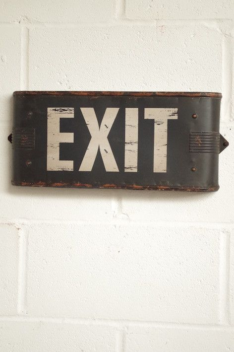 Exit Sign – Vincent and Barn