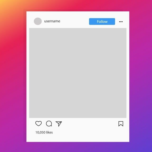 Instagram Social Media Photo Frame Template Post Interface Vector Png And Vector With Transparent Background For Free Download In 2020 Frame Template Social Media Instagram Instagram Emoji
