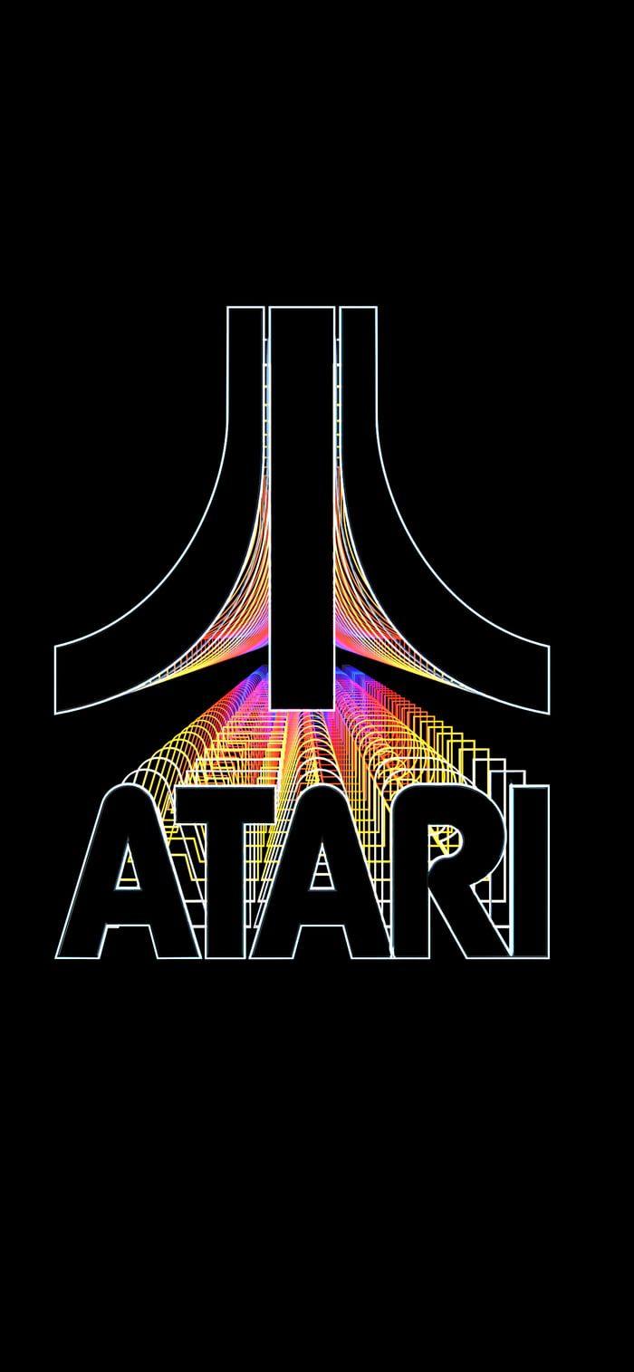 Atari Logo Video Game Logos Retro Gaming Art Retro Video Games