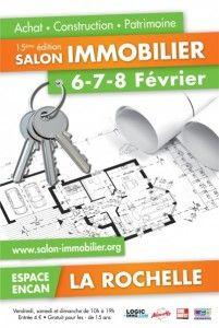 #Salon Immobilier de La Rochelle du 6 au 8 févier 2015. Le salon de l'immobilier de La Rochelle est le rendez-vous des professionnels de l'immobilier en région Poitou-Charentes.  http://www.batilogis.fr/agenda/salon-france-2015-1.html