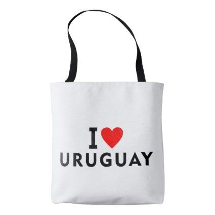 I love Uruguay country like heart travel tourism Tote Bag - heart gifts love hearts special diy