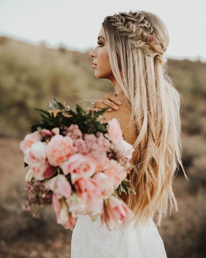 ▷ 1001 + modèles féeriques de hairstyle de mariage pour cheveux longs