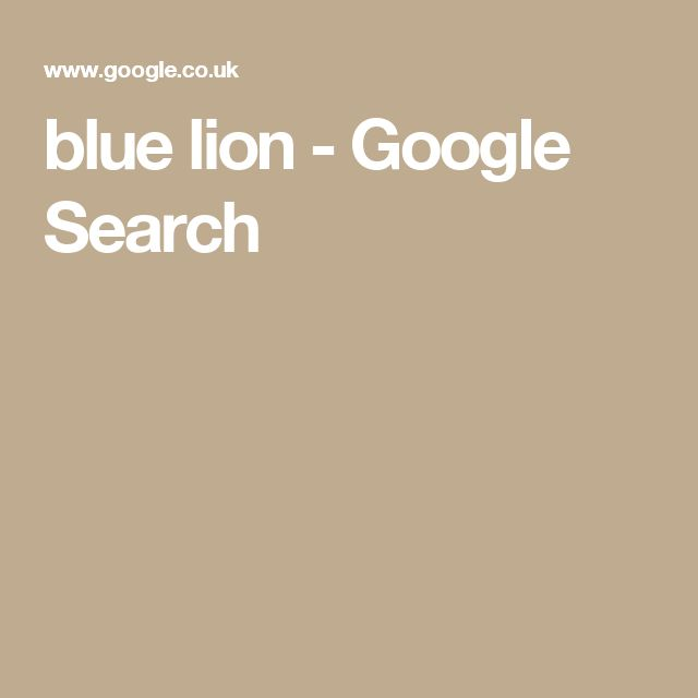 blue lion - Google Search
