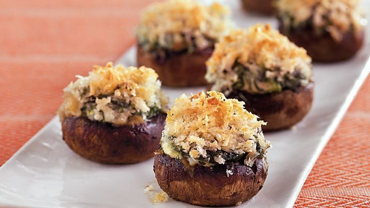 Looking for an appetizer that's sure to please a crowd? These mushrooms, stuffed with chopped green onion, bell pepper, bread crumbs and Italian seasoning make a delicious (and easy!) bite of Italian-inspired flavors that compliment any party. The best part of this appetizer? You can stuff, cover and store these mushrooms up to a full day before you need them for a make-ahead appetizer that's a winner.